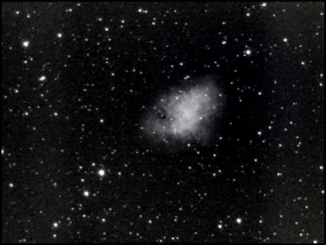 Mes premières images du ciel profond avec une webcam Philips SPC900 modifiée S.C 3, de construction personnelle.