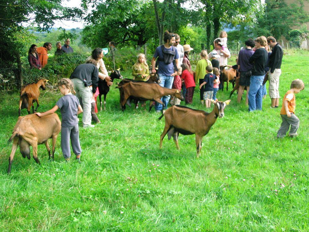 Le pique-nique de l'AMAP de l'Aneth à la bergerie de Bartherans (29/08/2010)