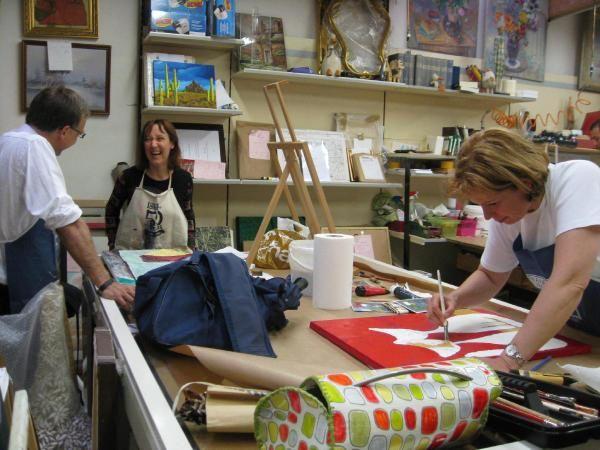 Atelier du 12 juin 2008 chez Encadrements Muller à Forbach.