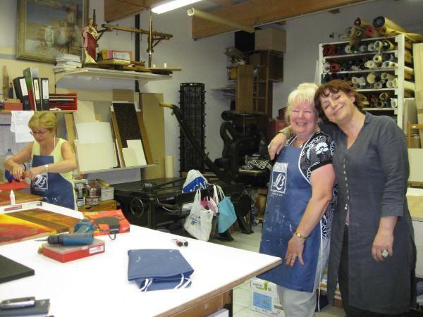 Atelier de création artistique du 26 juin 2008 chez Encadrements Muller à Forbach