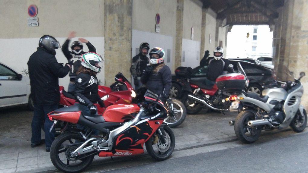 Balade motos organisés par LA TABLE D'OSTE au départ d'AUCH
