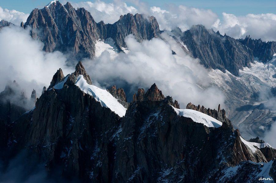 montagne, neige, sommet