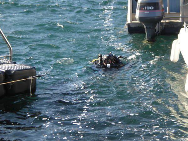 Pendant le Festival de la plongée Tech à Cavalaire j'ai profité pour faire un baptême en recycleur Inspi, la profondeur était de 10m et la durée de 30 minutes.