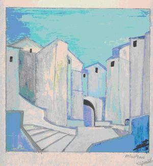 les premieres toiles et peintures de l'auteur