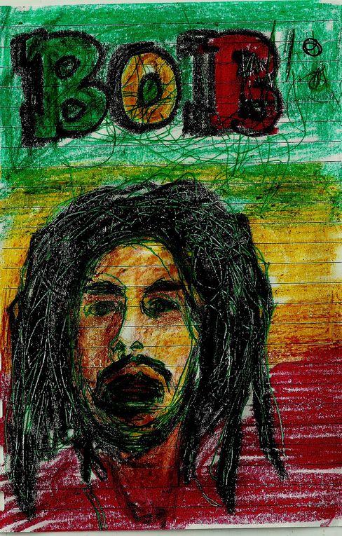 Les peinture et portraits réalisés par l'auteur