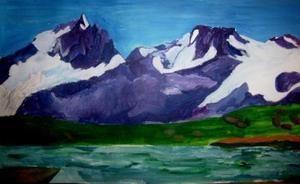 Peintures de l'auteur sur le thème de la montagne