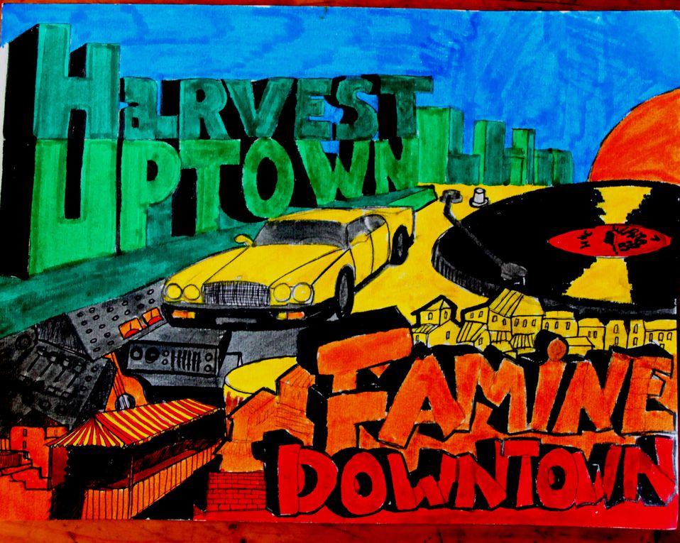 Peintures de l'auteur sur le thème du Reggae et de la Jamaique