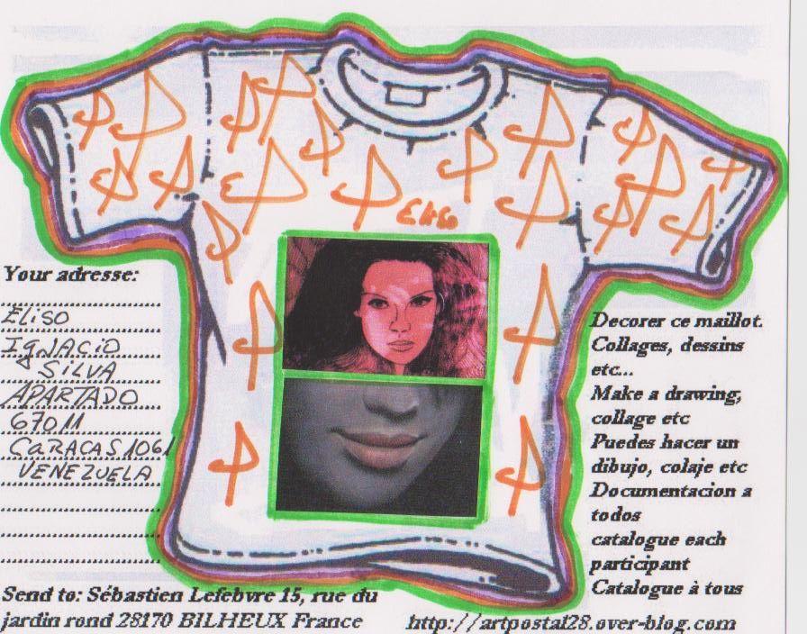 Pour mon projet sur les maillots. Les artistes devaient décorer un maillot à leur guise et me le retourner. Il s'agit du deuxième appel de ce genre