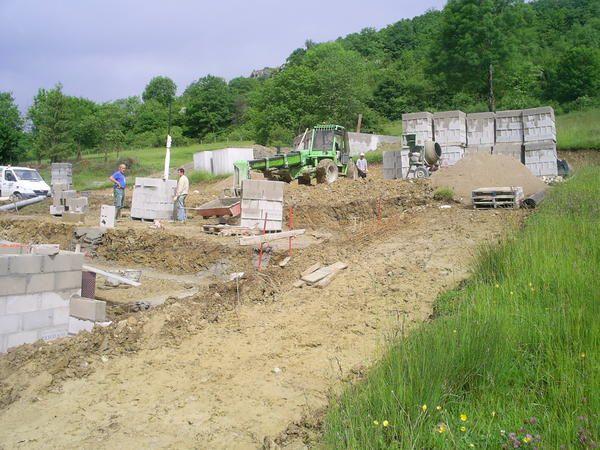 construction du vide-sanitaire.