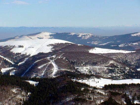 Photos prise en vol (Ulm pendulaire) le 28 février 2009 au dessus de la ligne Bleue des Vosges.