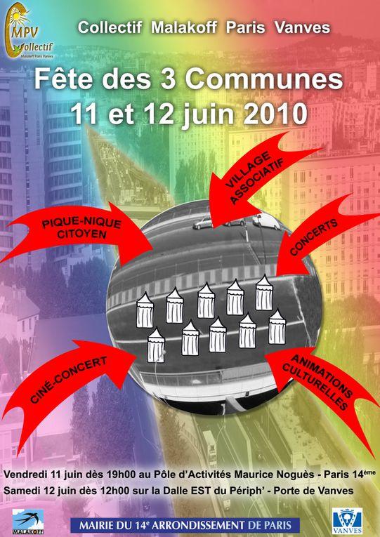 Le samedi 31 mai, La Ruche était présente à la Fête des trois communes sur la nouvelle dalle du périphérique.Les habitants et les associations inauguraient  la couverture du périphérique entre la Porte de Vanves et la porte Brancion