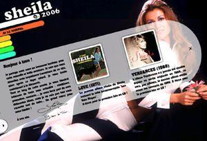Voici les produits dérivés de Sheila : Porte-clés, pins, broches, autographes, cartes téléphoniques, timbres, piquets de concerts...