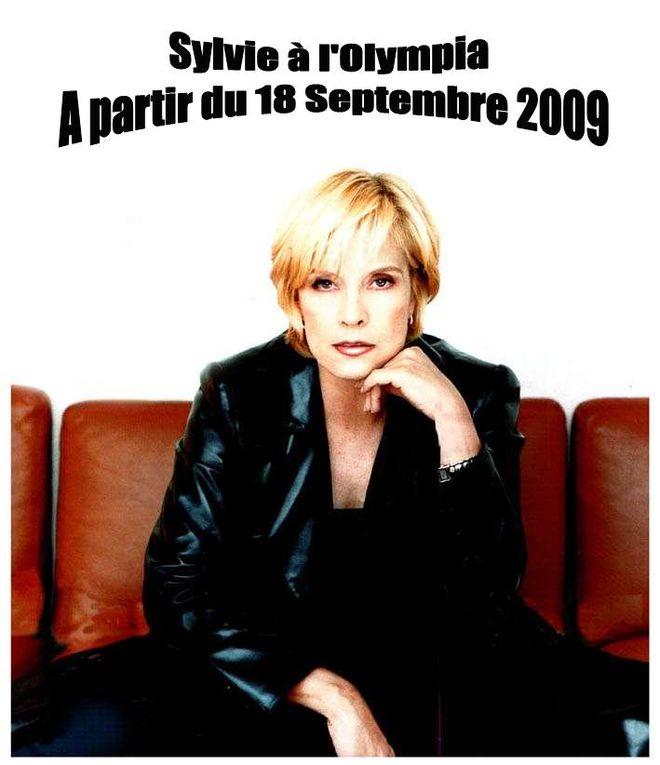"""Voici mes affiches pour l'Olympia 2009 et le nouvel album de Sylvie Vartan intitulé """"Lettres d'amour"""" !"""