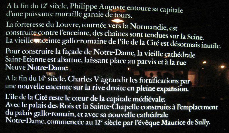 Crypte archéologique sous le parvis de la cathédrale Notre-Dame dans l'île de la Cité, Paris IVe