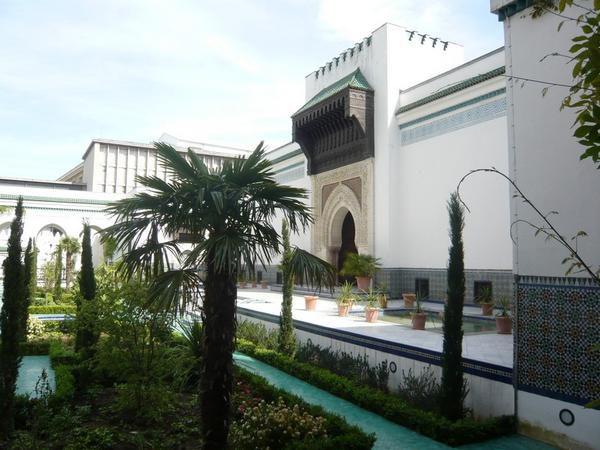 Visite à la Grande Mosquée de Paris le 10 mai 2008.