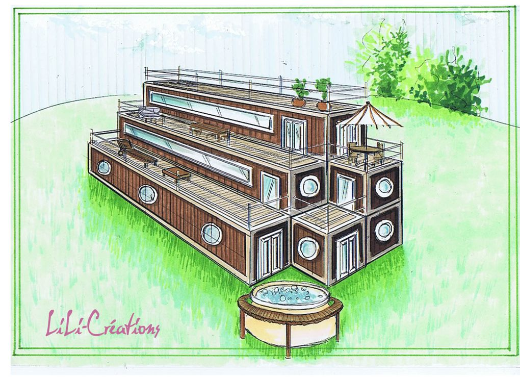 Album maison container le blog de elise fossoux for Comment construire sa maison container