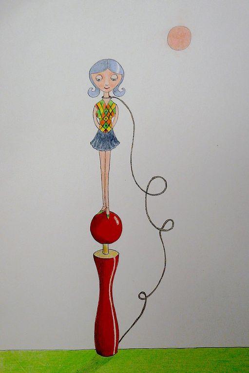 mes dessins au crayon de couleur