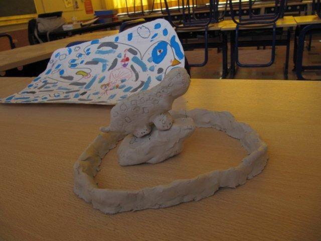 Oeuvres réalisées par les enfants de l'Ecole Joli Bois à Bruxelles (Woluwe Saint Pierre)
