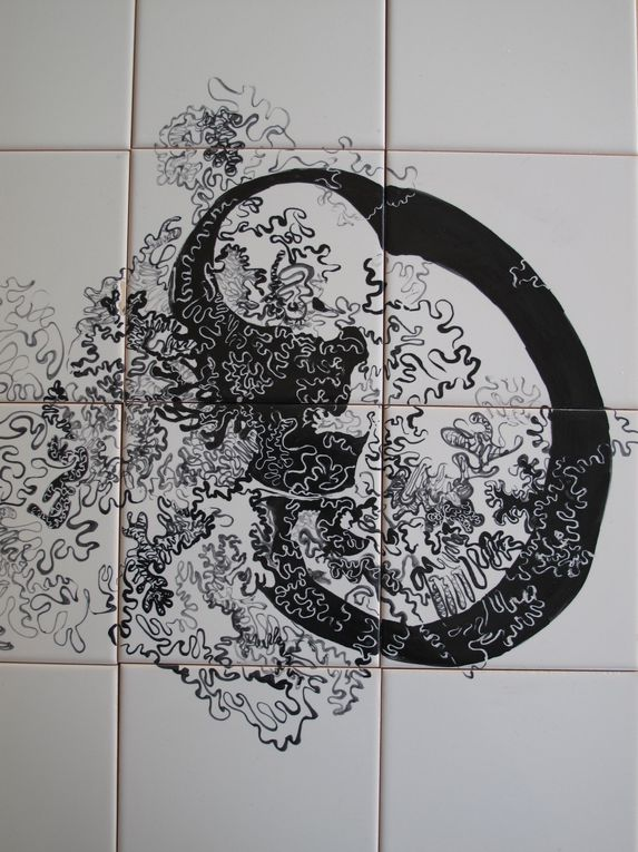 Azulejos, oeuvres picturales