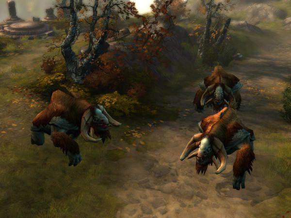 Les premières images du jeu, issus de la vidéo de démonstration. Au menu: barbare, nuée de sauterelles et gros monstres.