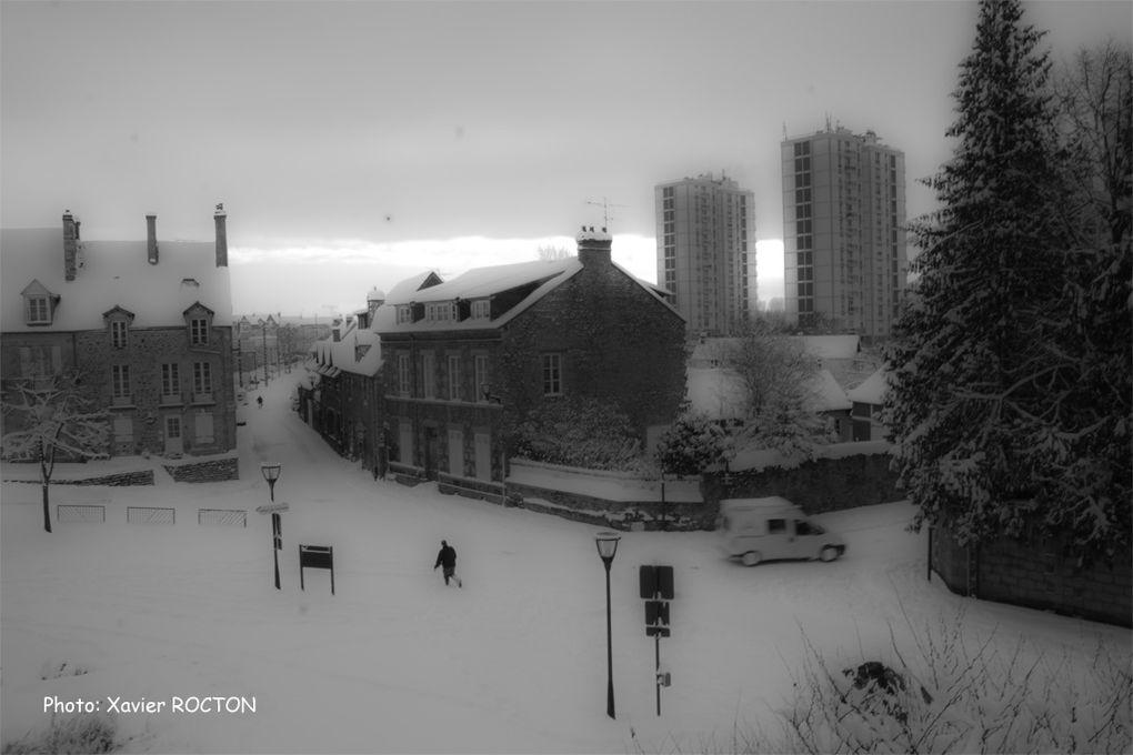 Neige sur la ville en janvier 2010