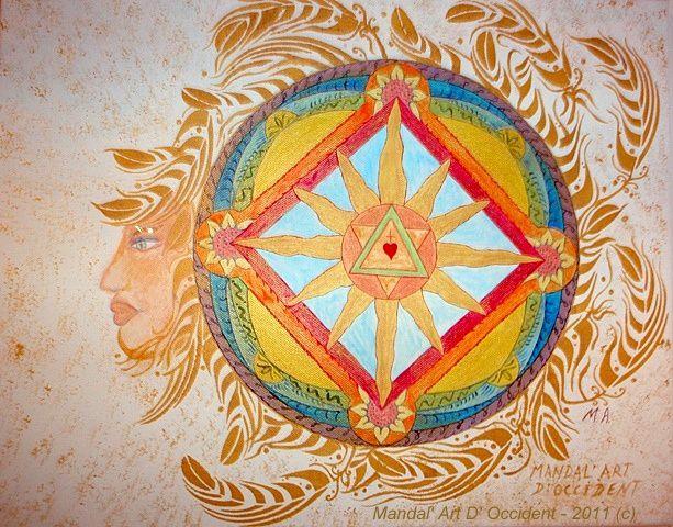 Album - Mandala à l'acrylique sur toile