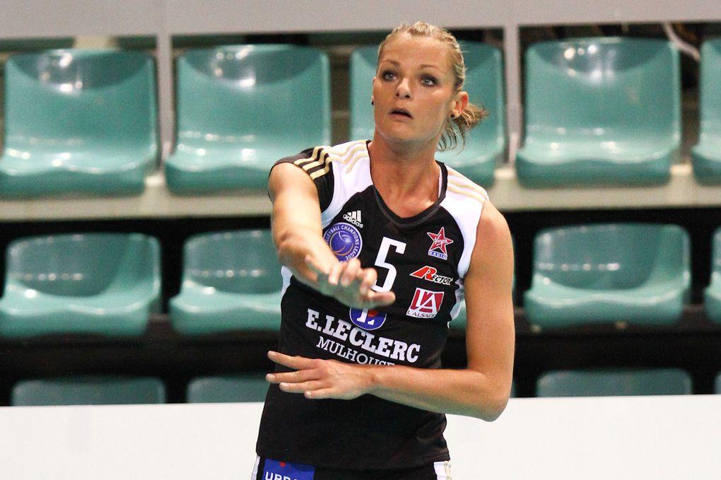 Match de champion's league féminine de Volleyball