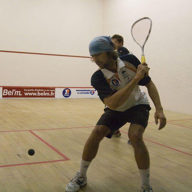 Première journée de Nationale 1 de squash par équipe à Mulhouse.
