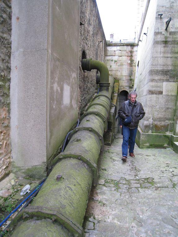 Visite du système hydraulique de Versailles le 5 avril 2008
