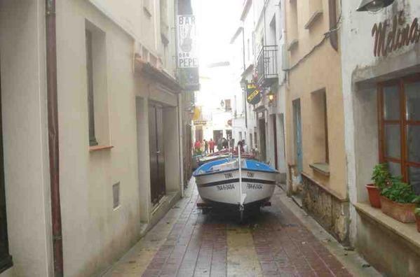 Weihnachten 2008 wird die gesamte Katalanische Küste überspült. Besonders wurde Tossa de Mar getroffen.