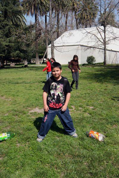 Ein Tag mit Kindern im Park.