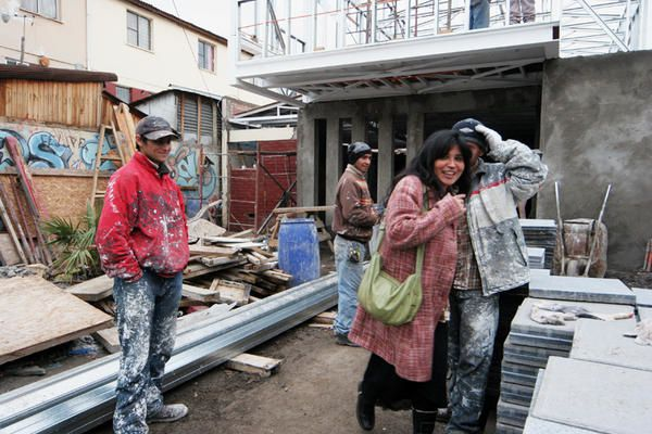 Baustelle in Las Vinitas, Cerro Navia, Santiago, Chile
