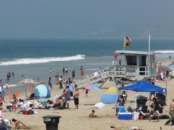 La plage à Santa Monica ... comme on en rêvait