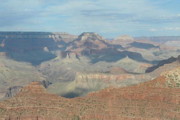 Vues depuis la rive sud du Grand Canyon. Aout 2008