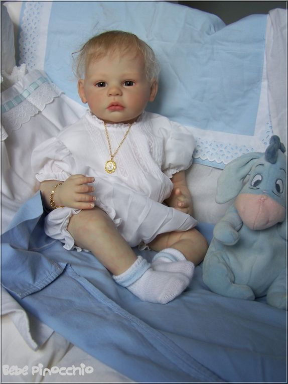 Angel kit A.Timmerman 51 cm, membres 3/4. Guillaume kit P. Donelli, 65 cm. Gaspard kit A.Stoete 55 cm, Aidan A.Stoete 55 cm.