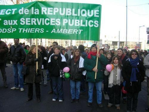 Quelques photographies de la manifestation du 29 janvier 2009 à Clermont-Ferrand