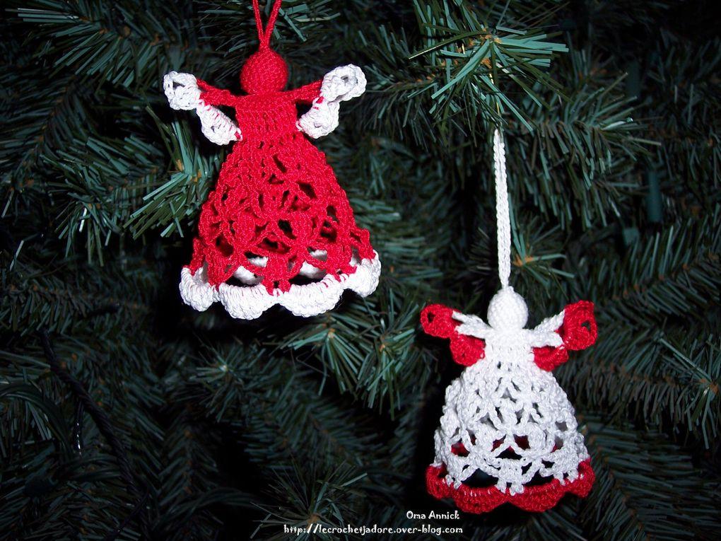 Décos de Noël réalisées au crochet