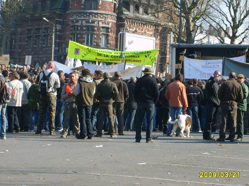 Album - Manifestation des chasseurs à Valenciennes du 21 mars 2009