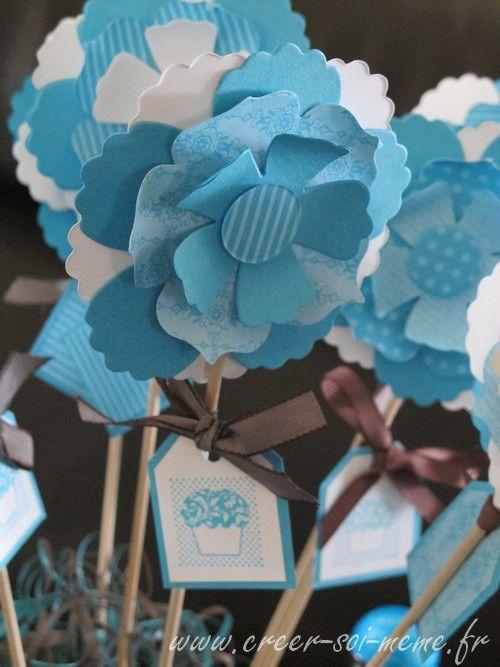 Idées pour réaliser des fleurs en papier...