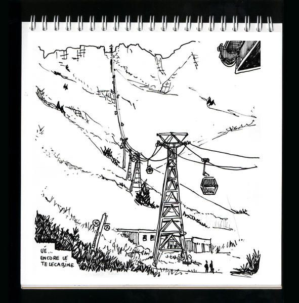 croquis et dessins made in La Plagne