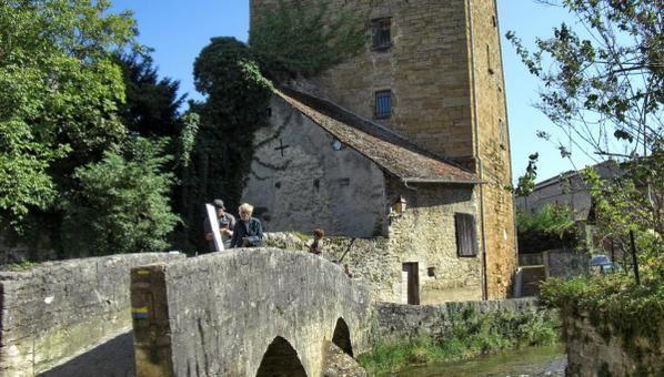 Matinée libre en Arbois avant de rejoindre les cousins au château d'Artois. Le temps, comme vous le constatez, fut splendide.