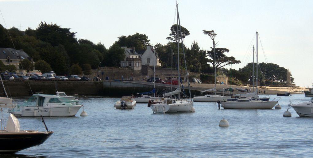 Descente de l'Odet vers Bénodet et Sainte-Marine. La croisière fut superbe. Merci Lulu et Mimi H !