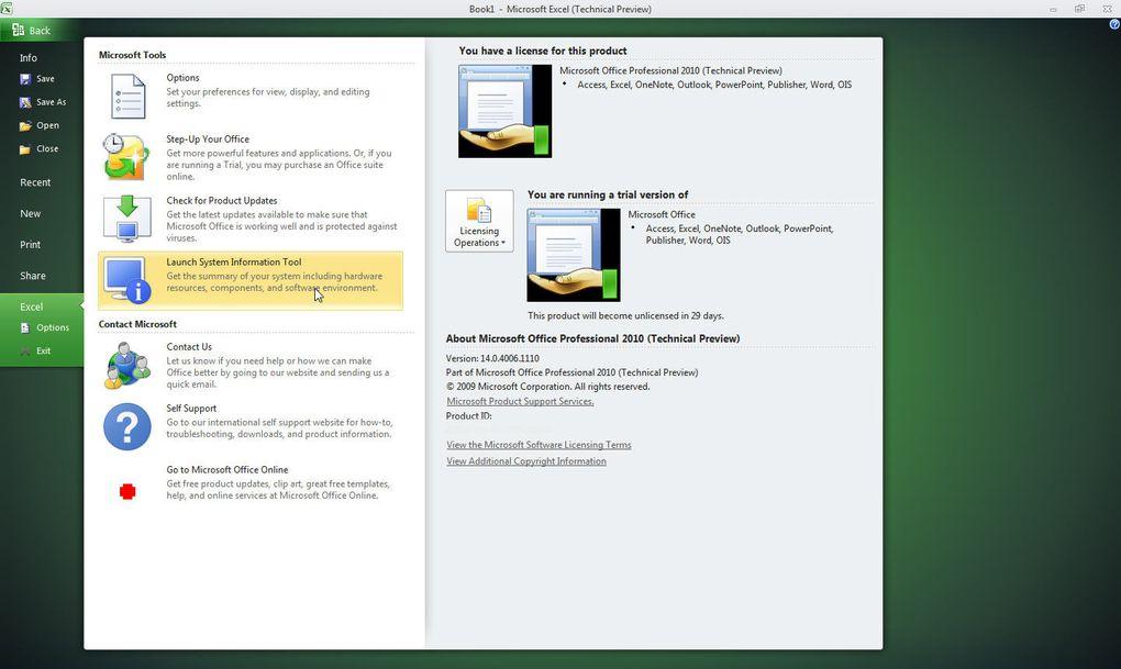 Des captures d'écrans d'Excel 2010