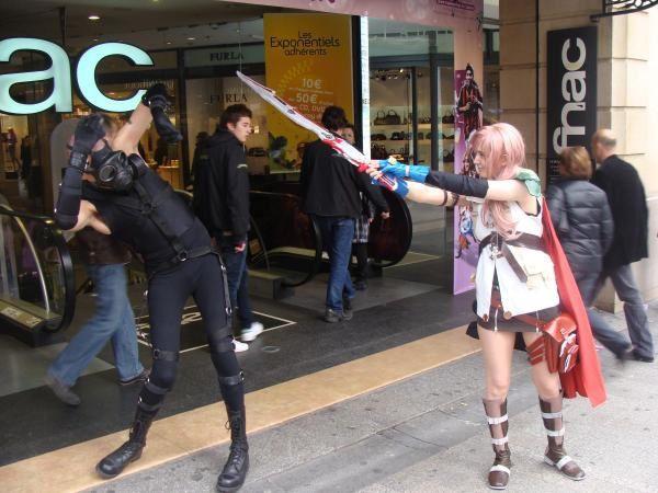 Concours de cosplay de la fnac des Champs-Elysée.