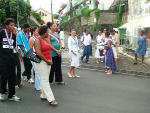 ACLJ Marigot. Photos manifestation autour des droits de l'enfant en 2005