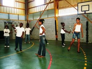 ACLJ Marigot. Photos Téléthon 2008 animation au gymnase de Dominante