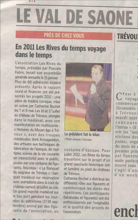Album - 2011 - HISTOIRES MEDIEVALES EN MULTISCENIE - ARTICLES DE PRESSE