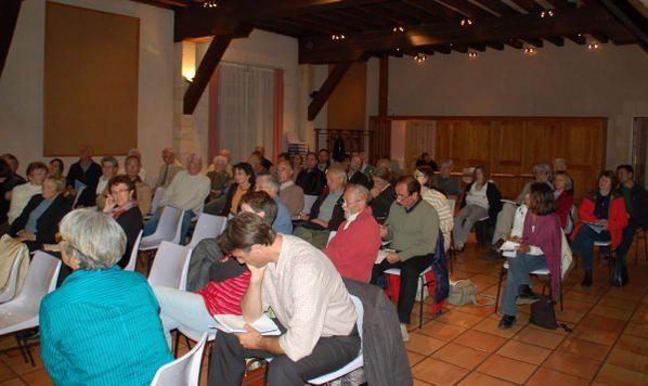 adhésions et débat à la salle de l'Arsenal le 9 octobre 2008