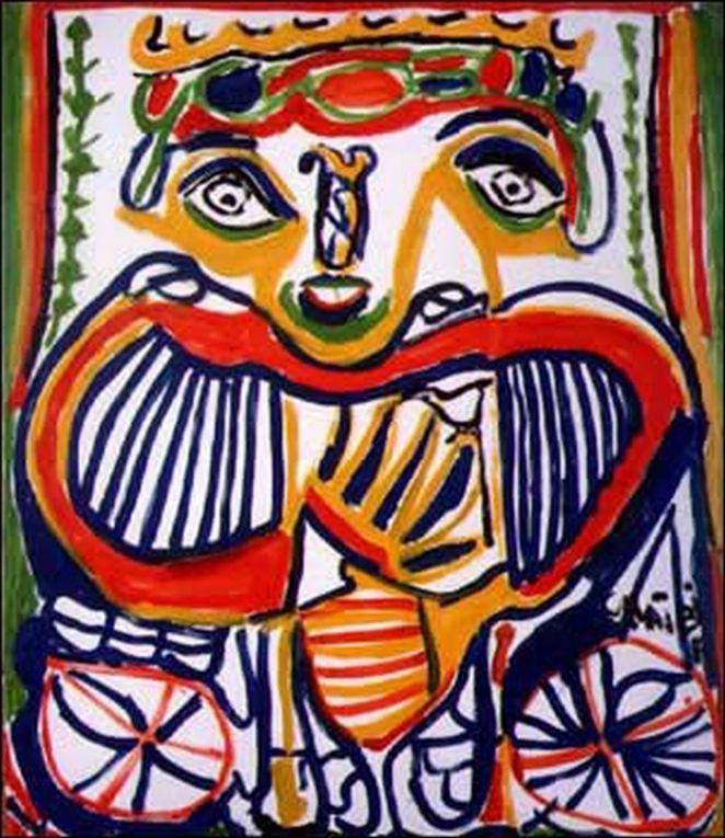 Chaïbia Talal la peintre la plus populaire au Maroc. Elle y est surnommée 'la paysanne des arts'.