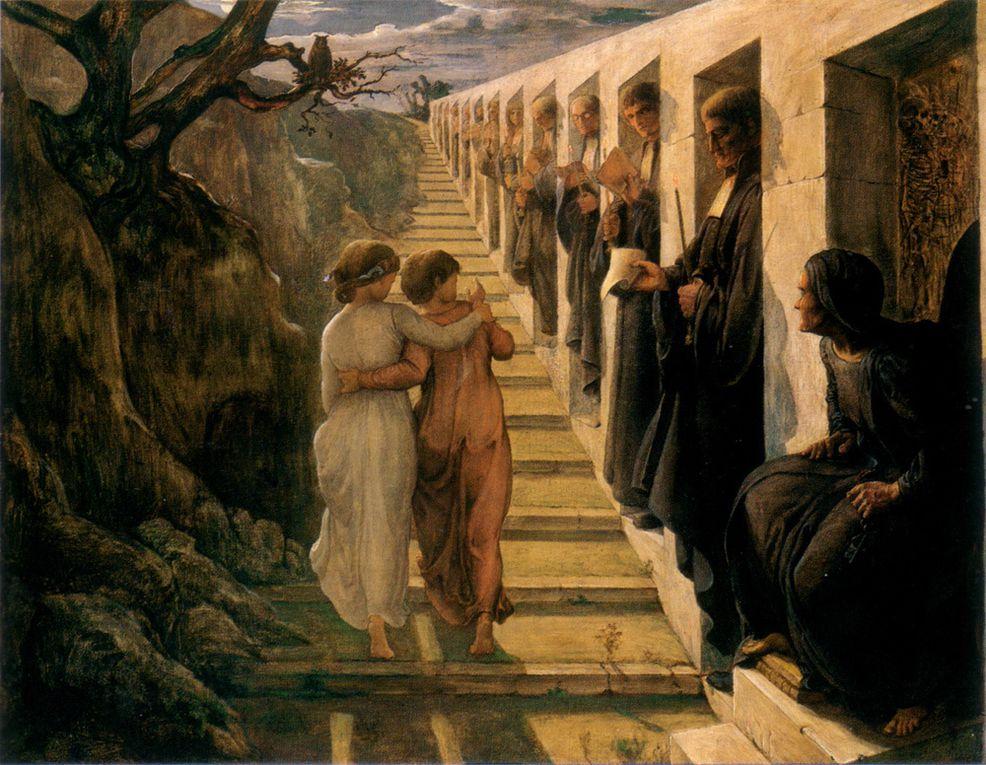 Anne-Francois-Louis Janmot (1814-1892) peintre au style romantique et réaliste, disciple d'Ingres.